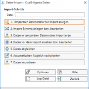 aB-Agenta Daten-Import Hauptfenster