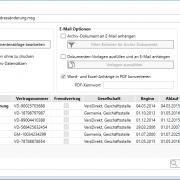 aB-Agenta Serienbrief-/Mail Hauptfenster