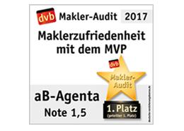 MVP Zufriedenheitsumfrage Note 1,5 - aB-Agenta