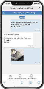 Kundenportal - Chat