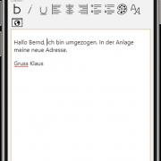 aB-Agenta Kundenportal - Nachricht