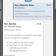 aB-Agenta Kundenportal - Nachrichten Dialog